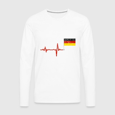Heartbeat Germany flag gift - Men's Premium Long Sleeve T-Shirt