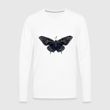 Butterfly Geometry Present Art Design Black - Men's Premium Long Sleeve T-Shirt