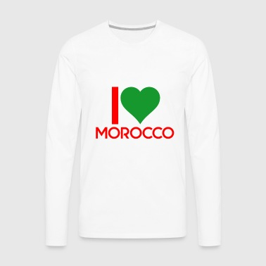 I love Morocco - Men's Premium Long Sleeve T-Shirt