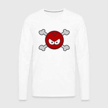 bowling jolly roger - Men's Premium Long Sleeve T-Shirt