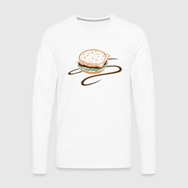 Big burger, hamburger, cheeseburger. - Men's Premium Long Sleeve T-Shirt