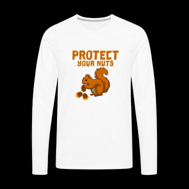 Protect your nuts - Men's Premium Long Sleeve T-Shirt