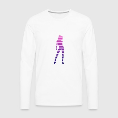 Sexy Babe Silhouette - Men's Premium Long Sleeve T-Shirt