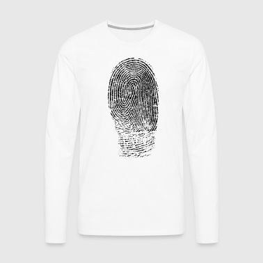 Fingerprint in Black - Men's Premium Long Sleeve T-Shirt