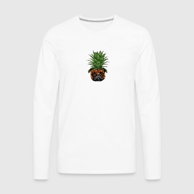 Pineapple Pug - Men's Premium Long Sleeve T-Shirt