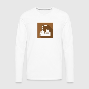 flat factory vector - Men's Premium Long Sleeve T-Shirt