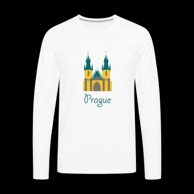 cute prague logo gift present idea - Men's Premium Long Sleeve T-Shirt