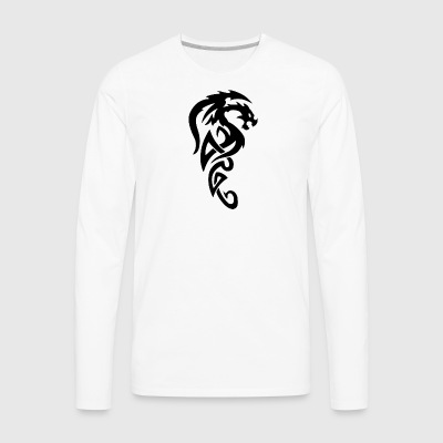 dragon tattoos png 28 - Men's Premium Long Sleeve T-Shirt