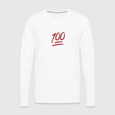 100 Emoji large - Men's Premium Long Sleeve T-Shirt