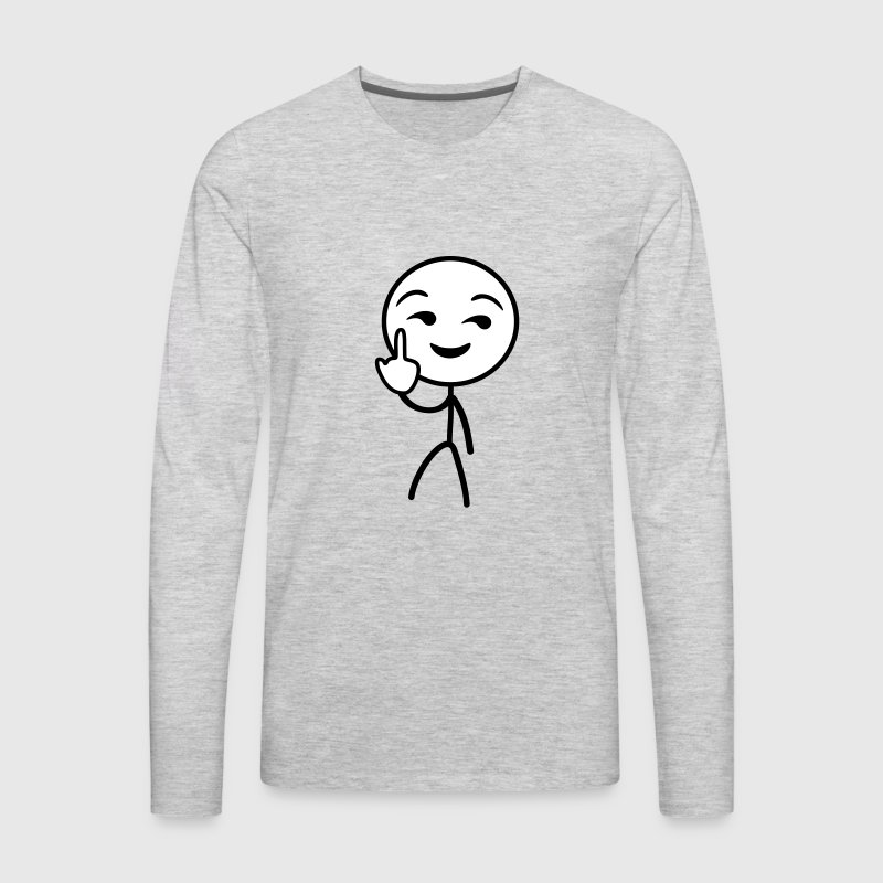 Fuck you stickman - Men's Premium Long Sleeve T-Shirt