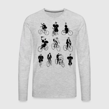 vintage-bike-rider-histor - Men's Premium Long Sleeve T-Shirt
