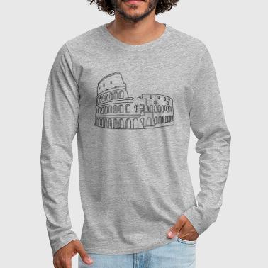 Colosseum in Rome - Men's Premium Long Sleeve T-Shirt