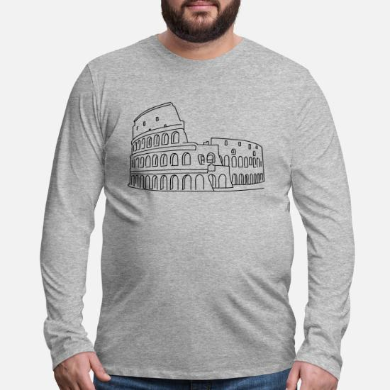 90797b9d4d1c Colosseum in Rome Men's Premium Longsleeve Shirt | Spreadshirt