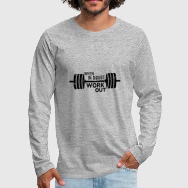 Never-give-up never give up - Men's Premium Long Sleeve T-Shirt