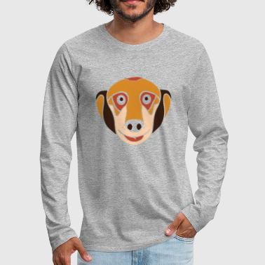 Meerkat face - Men's Premium Long Sleeve T-Shirt