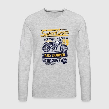 Supercross - Race Champion Motorcross - Men's Premium Long Sleeve T-Shirt