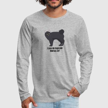 I Love My Kurilian Bobtail Cat - Men's Premium Long Sleeve T-Shirt