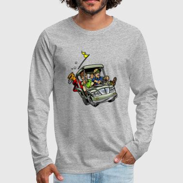 Golf_car - Men's Premium Long Sleeve T-Shirt