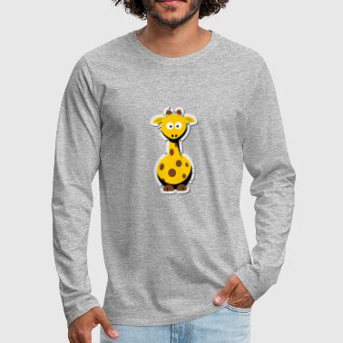 giraffe cutie - Men's Premium Long Sleeve T-Shirt