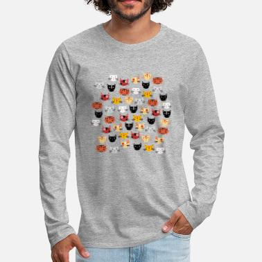 Animals Multiple Cats - Men's Premium Longsleeve Shirt