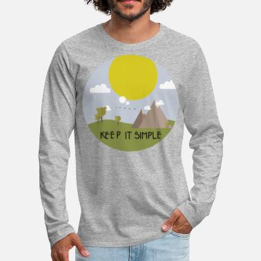Member Keep it simple and go camping - Men's Premium Long Sleeve T-Shirt