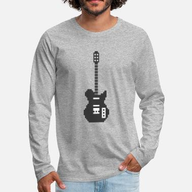 Bassist Pixel E Guitar Player Guitarist Gamer Gift - Men's Premium Longsleeve Shirt