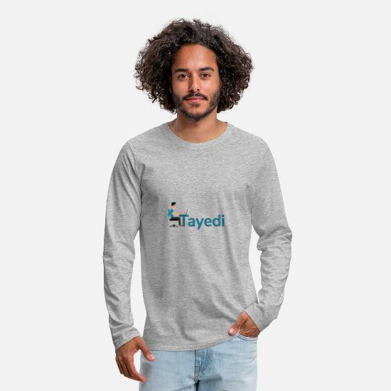Computer Long-Sleeve Shirts - Tayedi the make money online search engine - Men's Premium Longsleeve Shirt heather gray