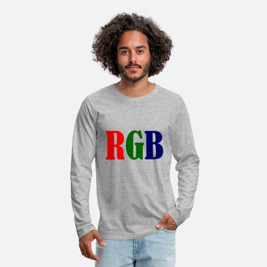 Rgb Long-Sleeve Shirts - RGB - Men's Premium Longsleeve Shirt heather gray