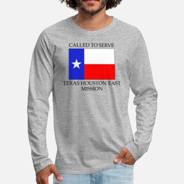 Houston Texas Houston East LDS Mission Called to Serve Fla - Men's Premium Long Sleeve T-Shirt