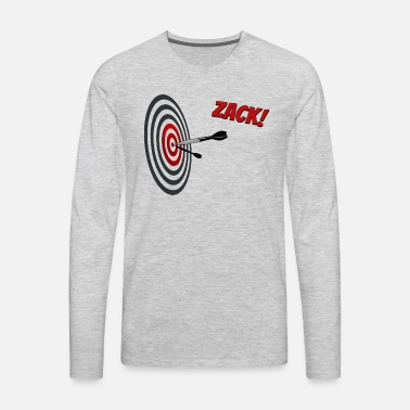 a2315fde Dart Sports Bulls Eye hit target cool funny gift Men's Premium T ...
