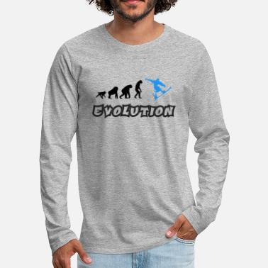 Evolution T Shirt with Snowboarder - Men's Premium Longsleeve Shirt