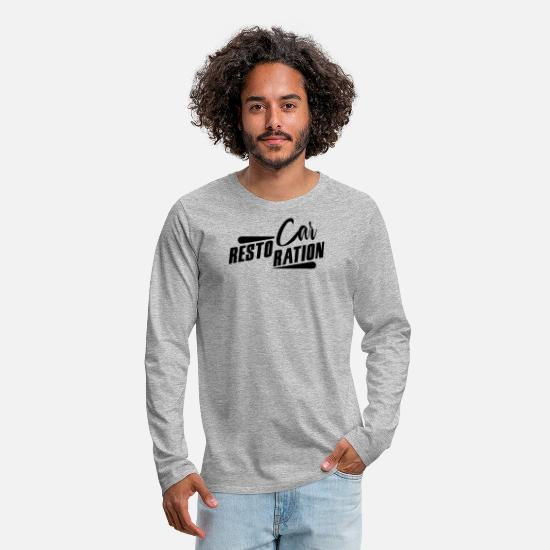 Car Long-Sleeve Shirts - Car Restoration - Men's Premium Longsleeve Shirt heather gray