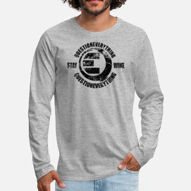 Weather QE *weathered - Men's Premium Long Sleeve T-Shirt