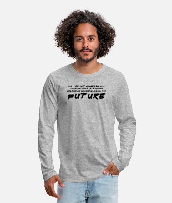 Movie Long-Sleeve Shirts - Future - Men's Premium Longsleeve Shirt heather gray