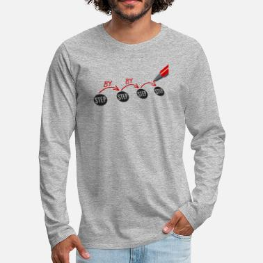 Step Mom Step by step by step pencil - Men's Premium Long Sleeve T-Shirt