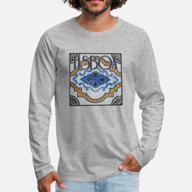 COOL LISBOA LISBON LISSABON PORTUGAL FAN PRESENT - Men's Premium Long Sleeve T-Shirt