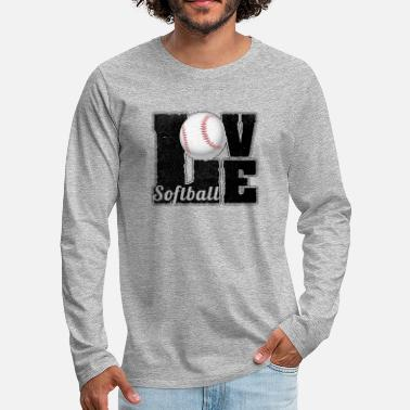 Softball Softball Player Fan Lover Sports Gift - Men's Premium Longsleeve Shirt