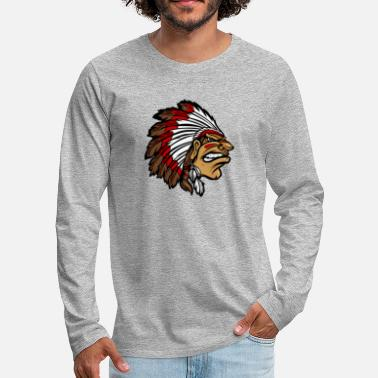 Angry Indian Warrior - Men's Premium Longsleeve Shirt