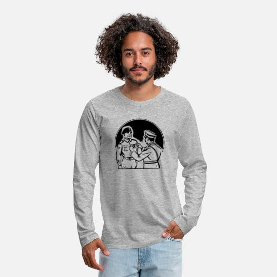 Animal Long-Sleeve Shirts - Medal Ceremony - Men's Premium Longsleeve Shirt heather gray