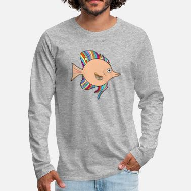 Crappie Fishing Hippie Fish - Men's Premium Long Sleeve T-Shirt