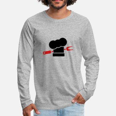 Smutje Barbecue cooking hats fork - Men's Premium Longsleeve Shirt