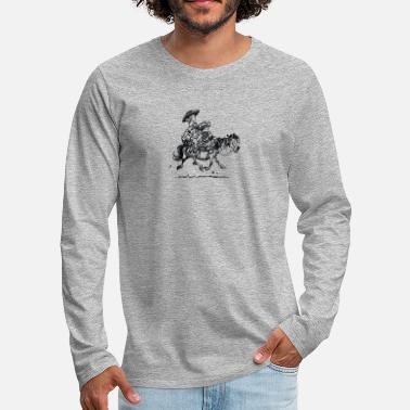 Thelwell Thelwell Two Cowboys With Their Horse - Men's Premium Longsleeve Shirt