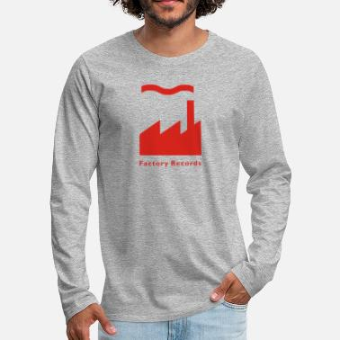Record Champion Factory Records Retro Record Label - Men's Premium Long Sleeve T-Shirt