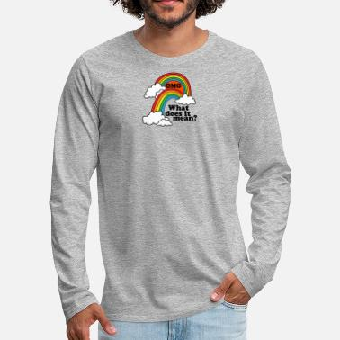 Double Entendre Double Rainbow - Men's Premium Longsleeve Shirt