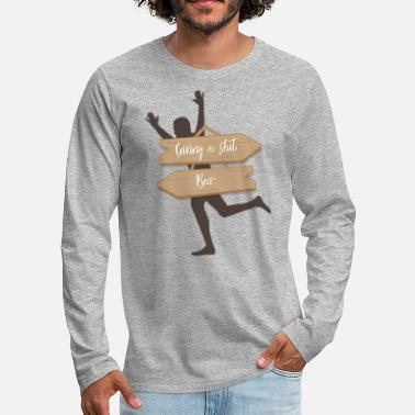 Giving A Shit? Beer! Alcohol Funny - Men's Premium Longsleeve Shirt