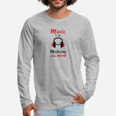 Earphones music is the medicine of the mind darkred earphone - Men's Premium Longsleeve Shirt