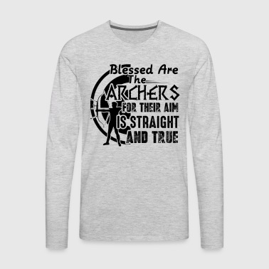 Blessed Are The Archer Shirt - Men's Premium Long Sleeve T-Shirt