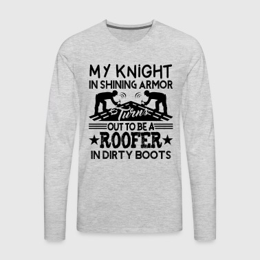 Knight Roofer Shirt - Men's Premium Long Sleeve T-Shirt