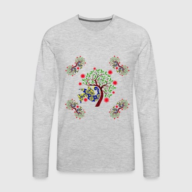 Ethnic Peacock Pattern - Men's Premium Long Sleeve T-Shirt