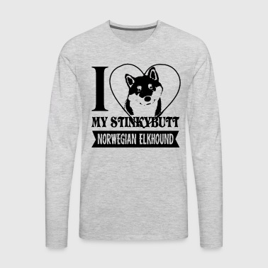 I Love My Norwegian Elkhound Shirt - Men's Premium Long Sleeve T-Shirt